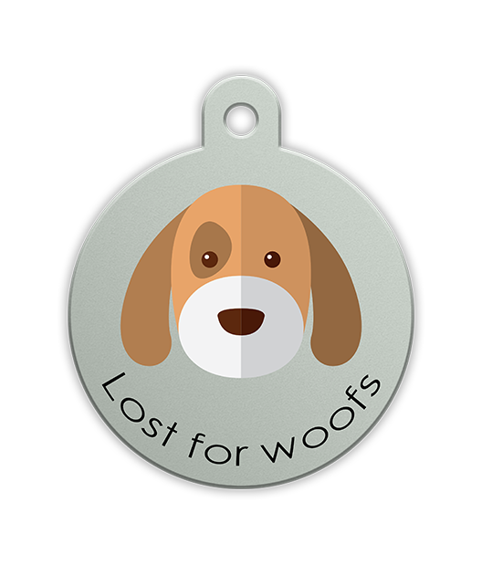 Pet Dandy Lost for Woofs Pet Tag - Fun Pet Tags