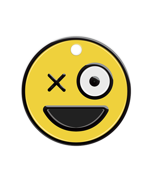 Wink Face Emoji Pet Tag - Pet Dandy - Petdandy - Funny Pet Tags - Cool Pet Tags